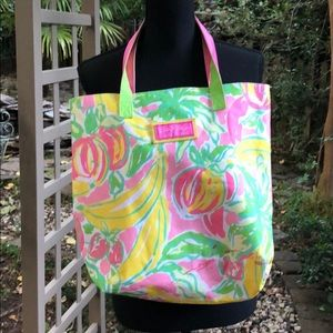 Lilly Pulitzer fruit tote bag